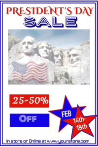 President's Day Sale Poster Template