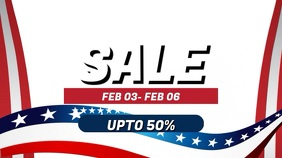 President's Day Sale Video Ad Template Digitale display (16:9)