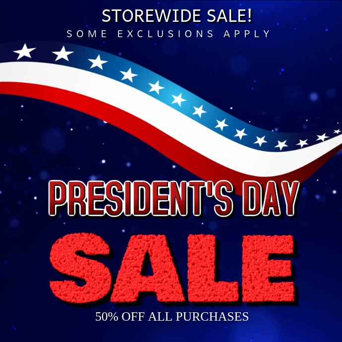 President's Day Sale Video template