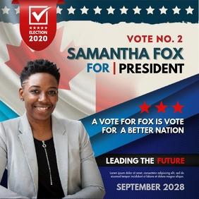 Presidential Campaign Slogan Online Ad Instagram-bericht template
