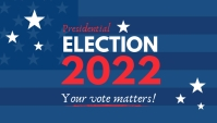 Presidential election 2020 blog header template