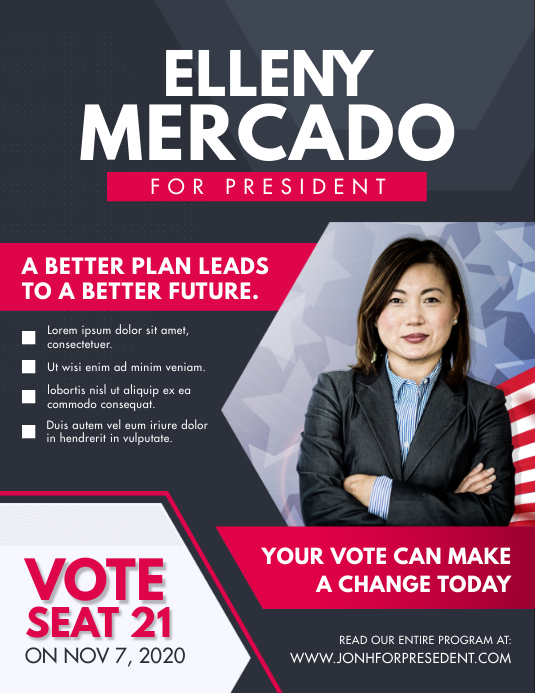 Presidential Election Campaign Flyer Template Postermywall
