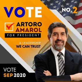 Presidential Election Campaign Online Advert Instagram-bericht template