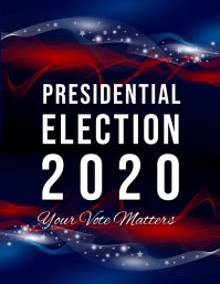 Presidential elections,event Flyer (US Letter) template