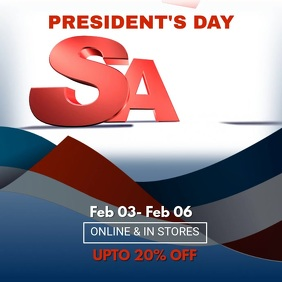 Presidents Day Big Sale Video Template