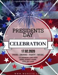 Presidents Day Celebration Flyer Template