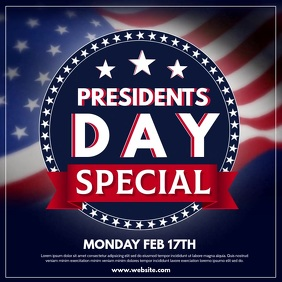 Presidents Day Pos Instagram template