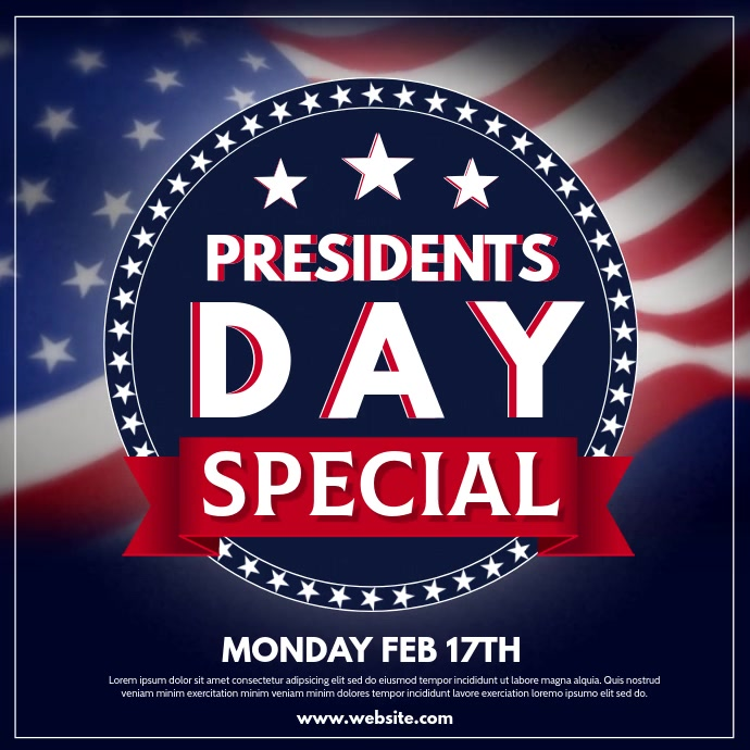 Presidents Day Wpis na Instagrama template