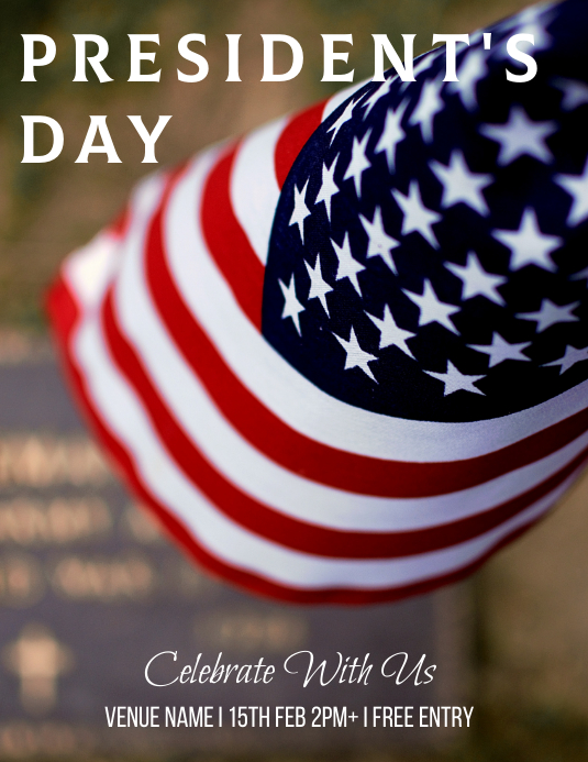 Presidents day Flyer (US Letter) template