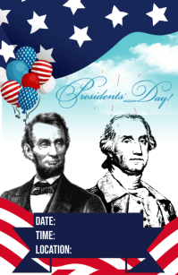PRESIDENTS DAY Tabloid template