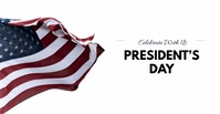 Presidents day Facebook begivenhed cover template
