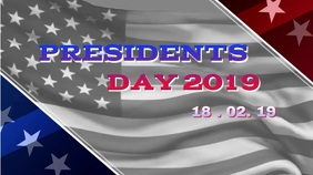 PRESIDENTS DAY Digitale display (16:9) template