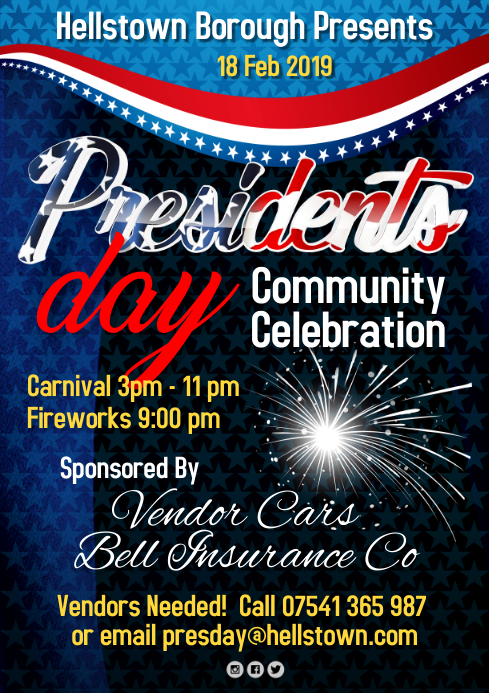 Presidents Day Event Poster