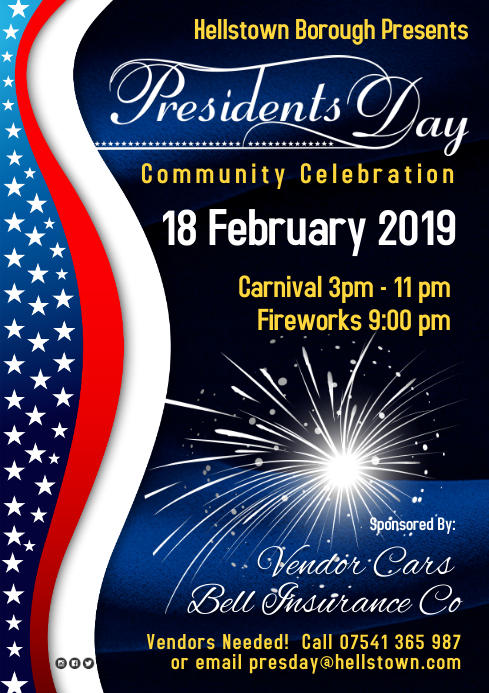 Presidents Day Event Poster A4 template