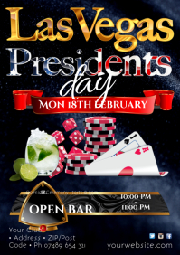 Presidents day Las Vegas Night Poster