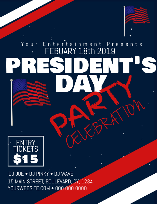 PRESIDENTS day party