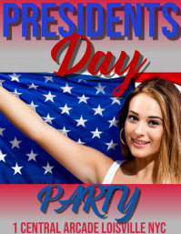 presidents day party Volante (Carta US) template