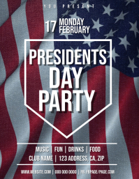 Presidents Day Party Flyer Template