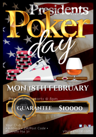 Presidents day Poker Night Poster