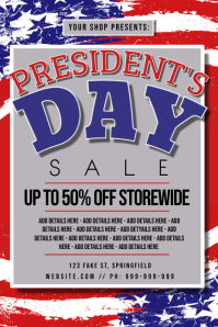 Presidents Day Retail Poster Póster template
