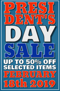 Presidents Day Retail Poster