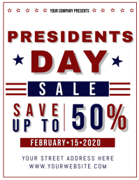 Presidents day Sale Event Flyer Template