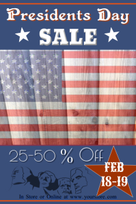 Presidents Day Sale Poster Template