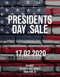 Presidents Day Sale Flyer Template