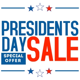 Presidents day sale instagram post