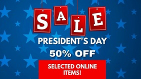Presidents day Sale Video Ad template Digitale display (16:9)
