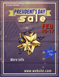 Presidents Day Sale Video Flyer