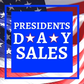 Presidents day sales advertisement for instag