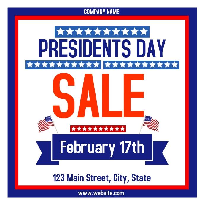 presidents day sales advertisement instagram