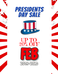 Presidents Day Sales Event Flyer