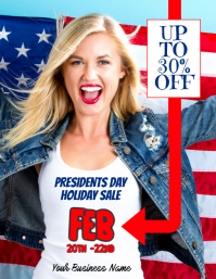 Presidents day sales event flyer template