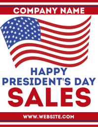 Presidents day sales flyer advertisement