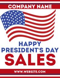 Presidents day sales flyer advertisement