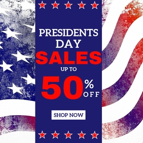 Presidents day sales instagram post