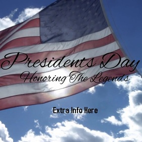 presidents day template Persegi (1:1)