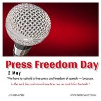 Press Freedom Day Publicación de Instagram template