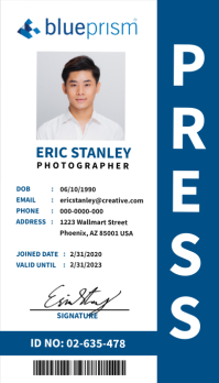 Press ID Business Card template