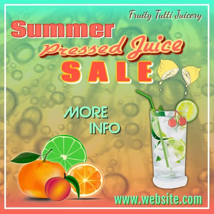 Pressed Juice Video Instagram-opslag template