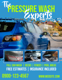 Pressure Washer Flyer Template Advertising