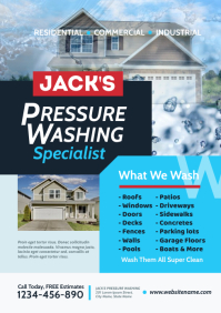 Pressure Washing Flyer A4 template