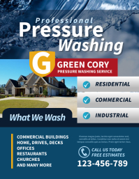 Pressure Washing Flyer ใบปลิว (US Letter) template