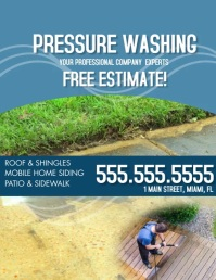 Pressure Washing Flyer Roof Cleaning Folder (US Letter) template