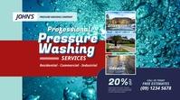 Pressure Washing Twitter Post template