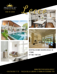 prestige luxury real estate Pamflet (Letter AS) template