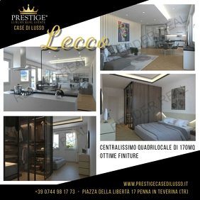 prestige luxury real estate lecco Instagram Post template
