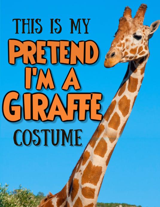 Pretend I'm a Giraffe Template